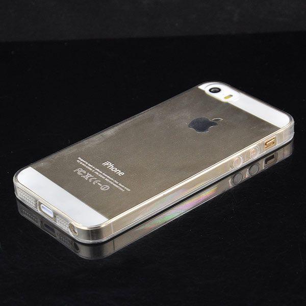 Image of   iPhone 5/5s/SE - 0.2mm Ultra Tynd Gennemsigtig TPU Cover - Sort