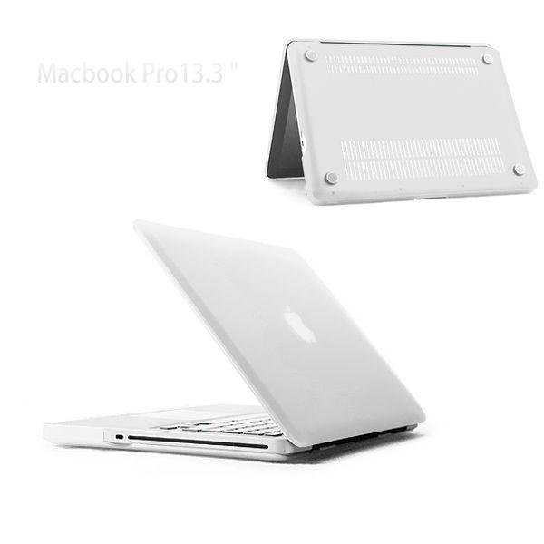 "Image of   MacBook Pro 13"" (2009-2012) - Mat Hard Etui - Hvid/transparent"