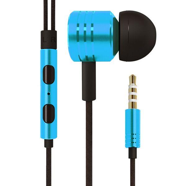 Image of   3.5mm Høj Kvalitet Høretelefoner med Volume knap - Blå