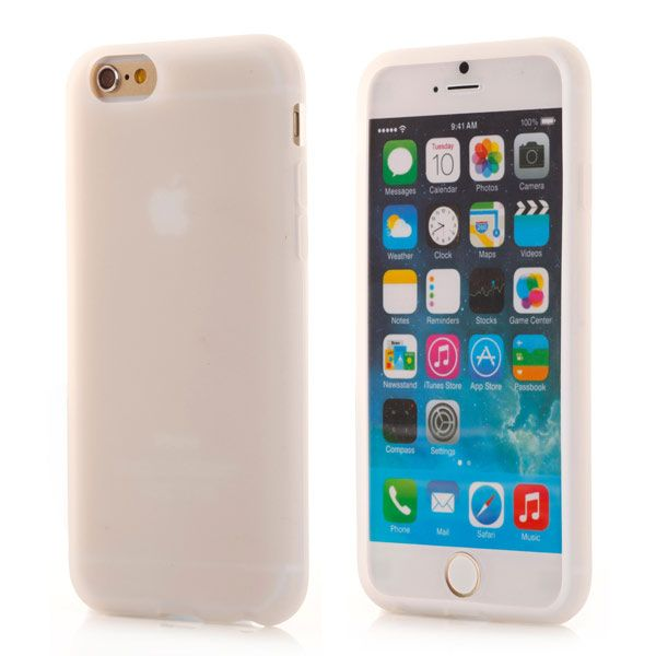 Image of   iPhone 6/6S - Beskyttende Silikone Cover - Transparent Hvid