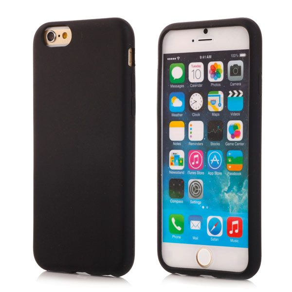 Image of   iPhone 6/6S - Beskyttende Silikone Cover - Sort