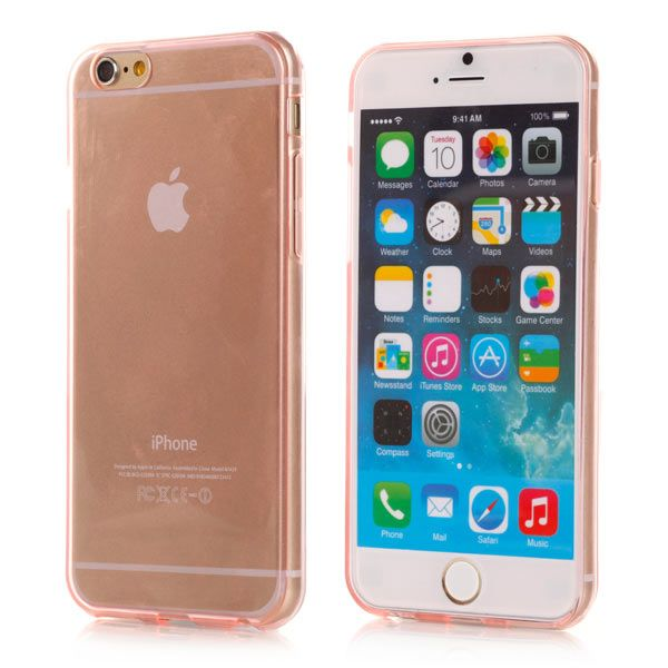Image of   iPhone 6/6S - Ultra Tynd Transparent TPU Back Cover - Lyserød