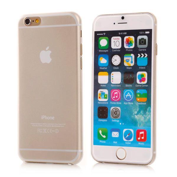 Image of   iPhone 6/6S - Ultra Spinkel Mat Transparent Hard Cover - Hvid