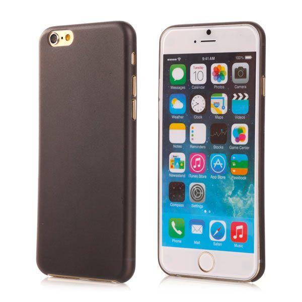 Image of   iPhone 6/6S - Ultra Spinkel Mat Transparent Hard Cover - Sort