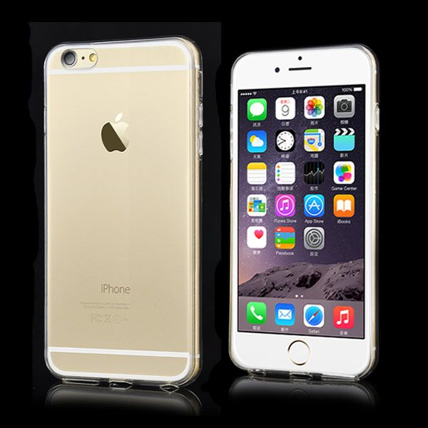 Image of   iPhone 6 Plus/6S Plus - Mat Transparent TPU Cover - Hvid