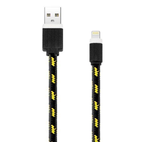 Image of   3M Holdbar Nylon USB-Kabel Til Opladning og Datasync - Sort