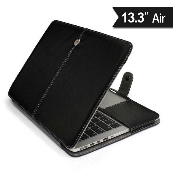 "Image of   MacBook Air 13"" - Luksus PU Læder Cover - Sort"