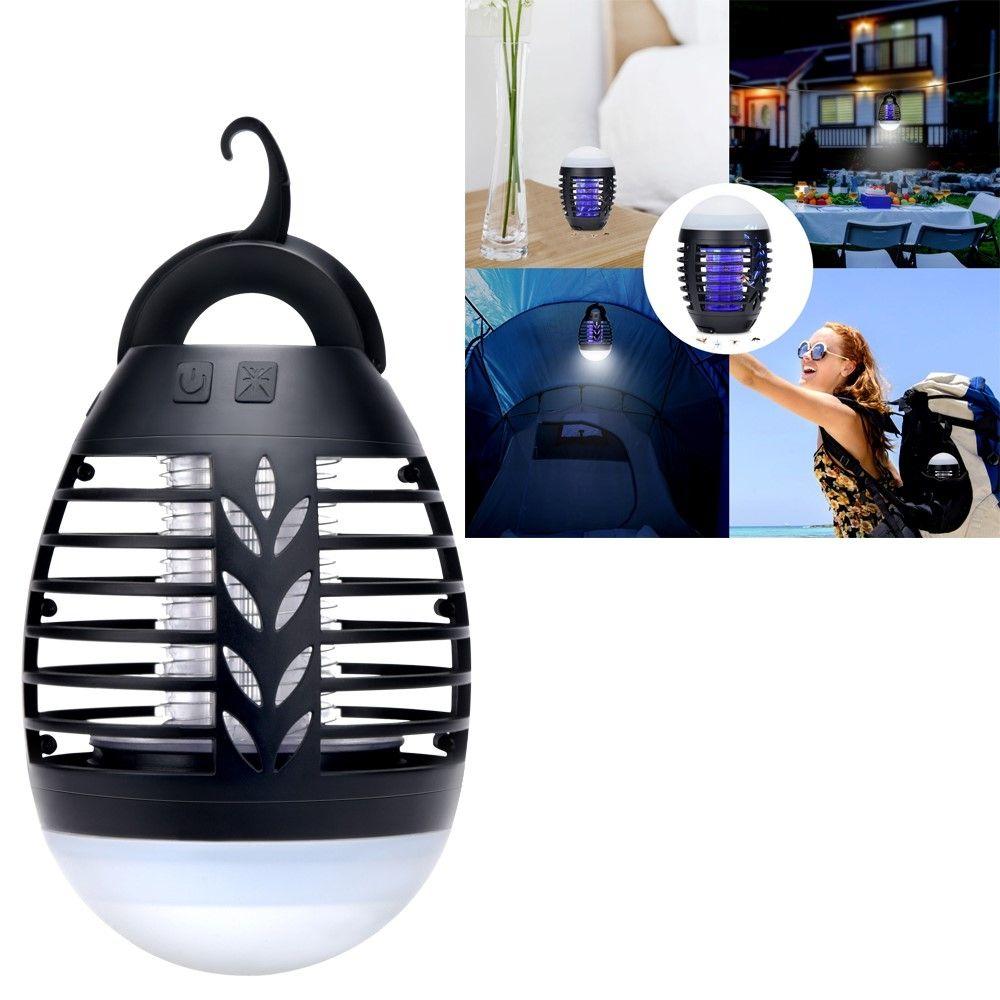 Image of   2-i-1 Udendørs LED lampe / Myggedræber - Genopladeligt batteri + Brug som powerbank