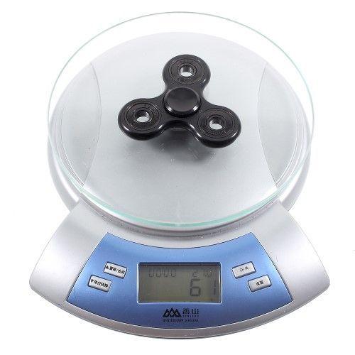 Fidget Spinner - Tri spinner i aluminium - Sort