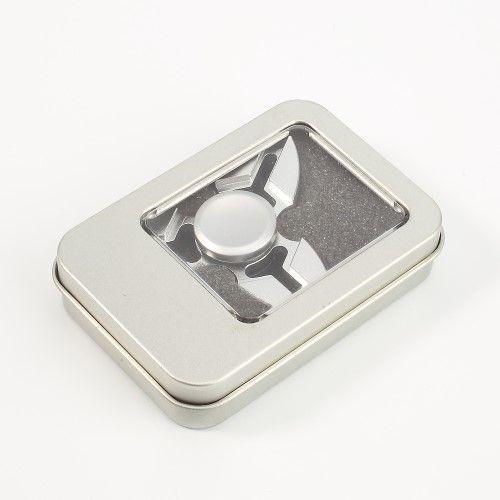 Fidget spinner - Aluminium håndspinner - Sølv