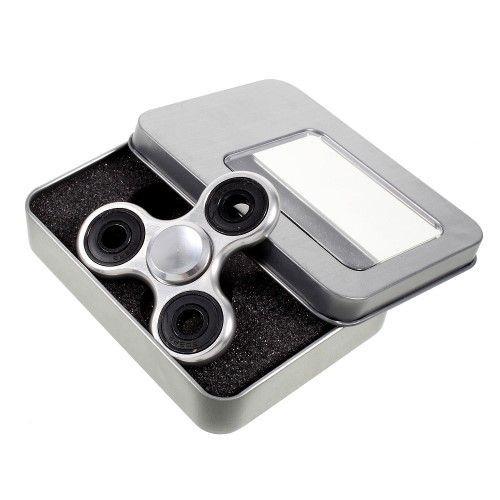 Fidget spinner - Lækker metal design - Sølv
