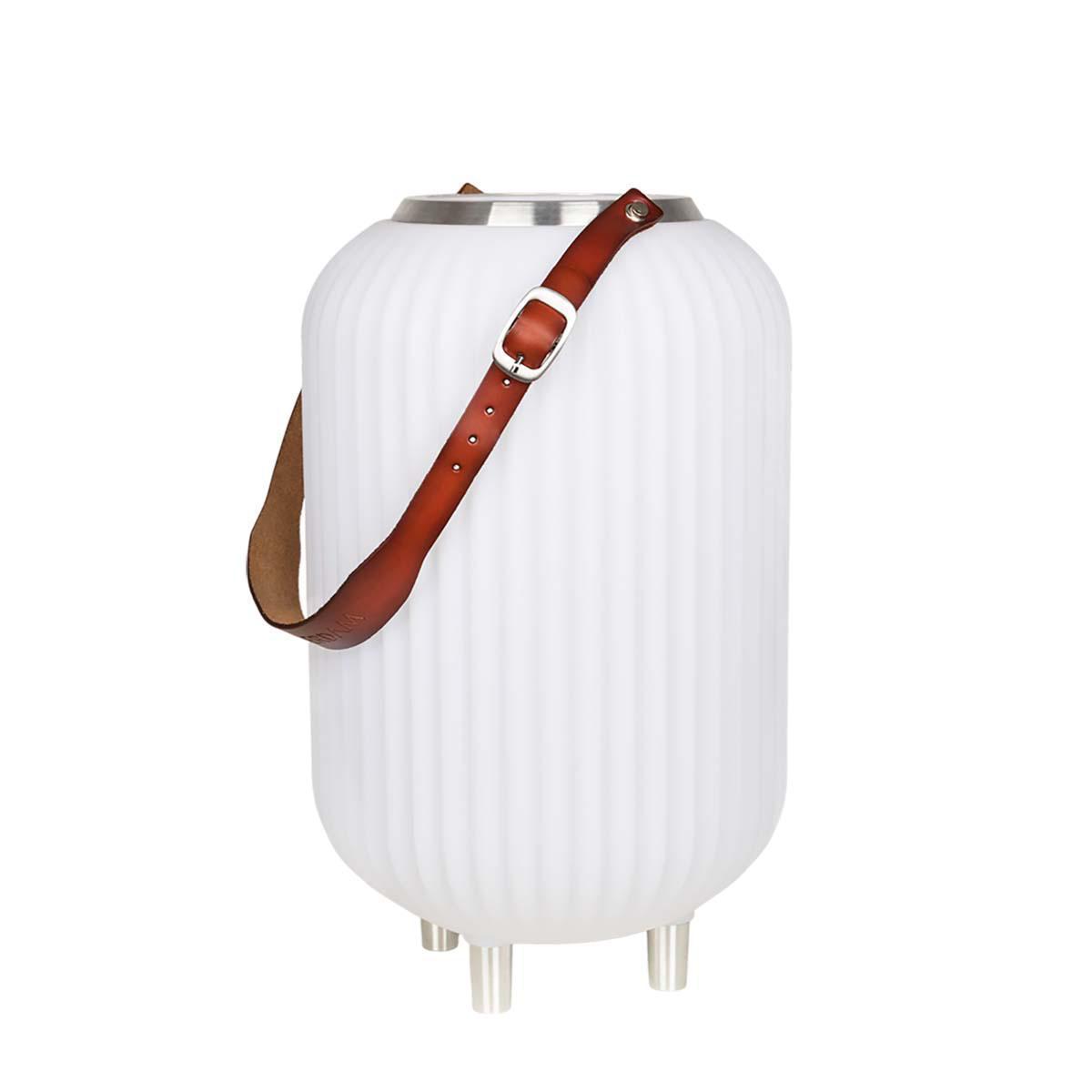 The.Lampion S – Lampe med indbygget Bluetooth Højttaler & Vinkøler – Hvid
