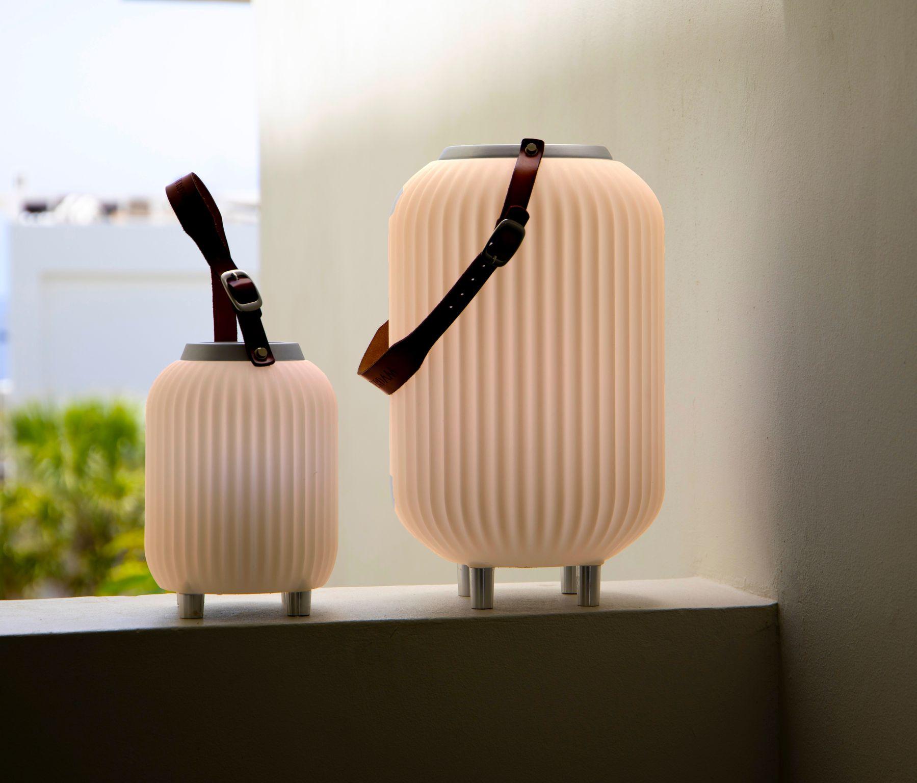 The.Lampion XS – Lampe med indbygget Bluetooth Højttaler & Vinkøler – Hvid