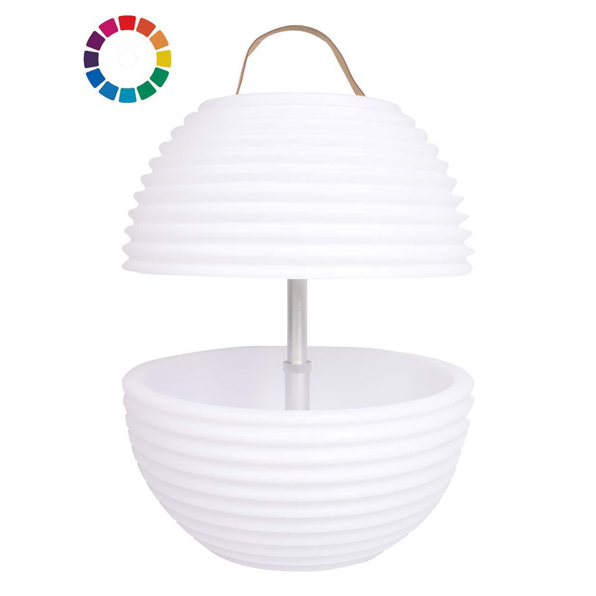 The.Bowl – Lampe med indbygget Bluetooth Højttaler & Vinkøler – Vandtæt – Hvid