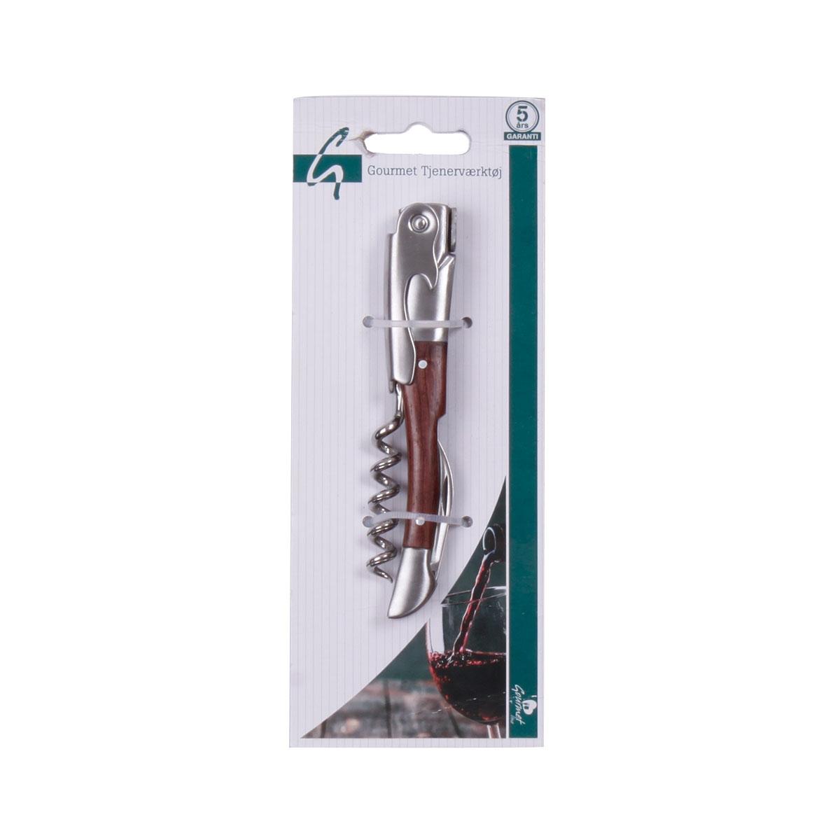 Gourmet Vinoplukker / Tjenerproptrækker – Rosentræ / rustfrit stål