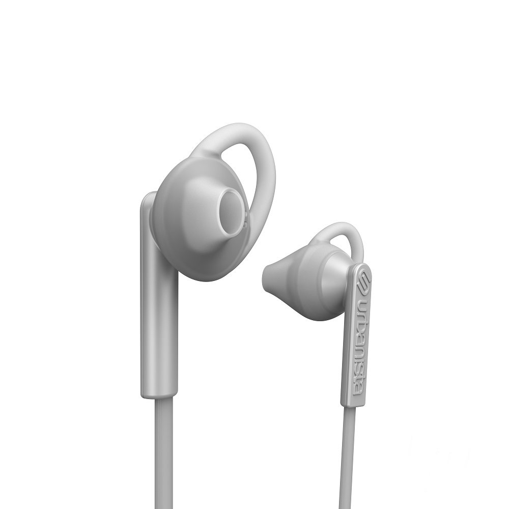 Billede af Urbanista Boston høretelefoner - in ear med go fit - bluetooth våd og svedtransporterende - White mist