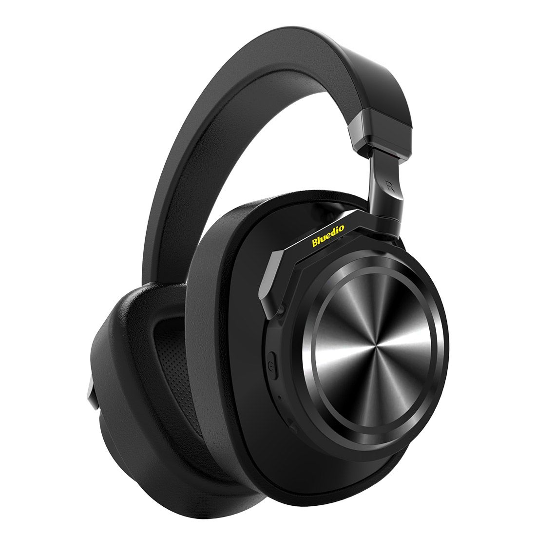 Image of   BLUEDIO T6 - Titanium Turbine Bluetooth 5.0 Noise Cancelling Høretelefoner - Sort