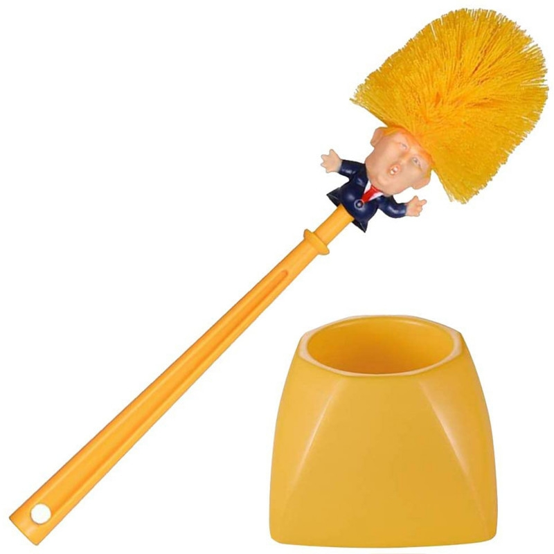 Toiletbørste - DONALD TRUMP - Præsidentbørsten - Gul