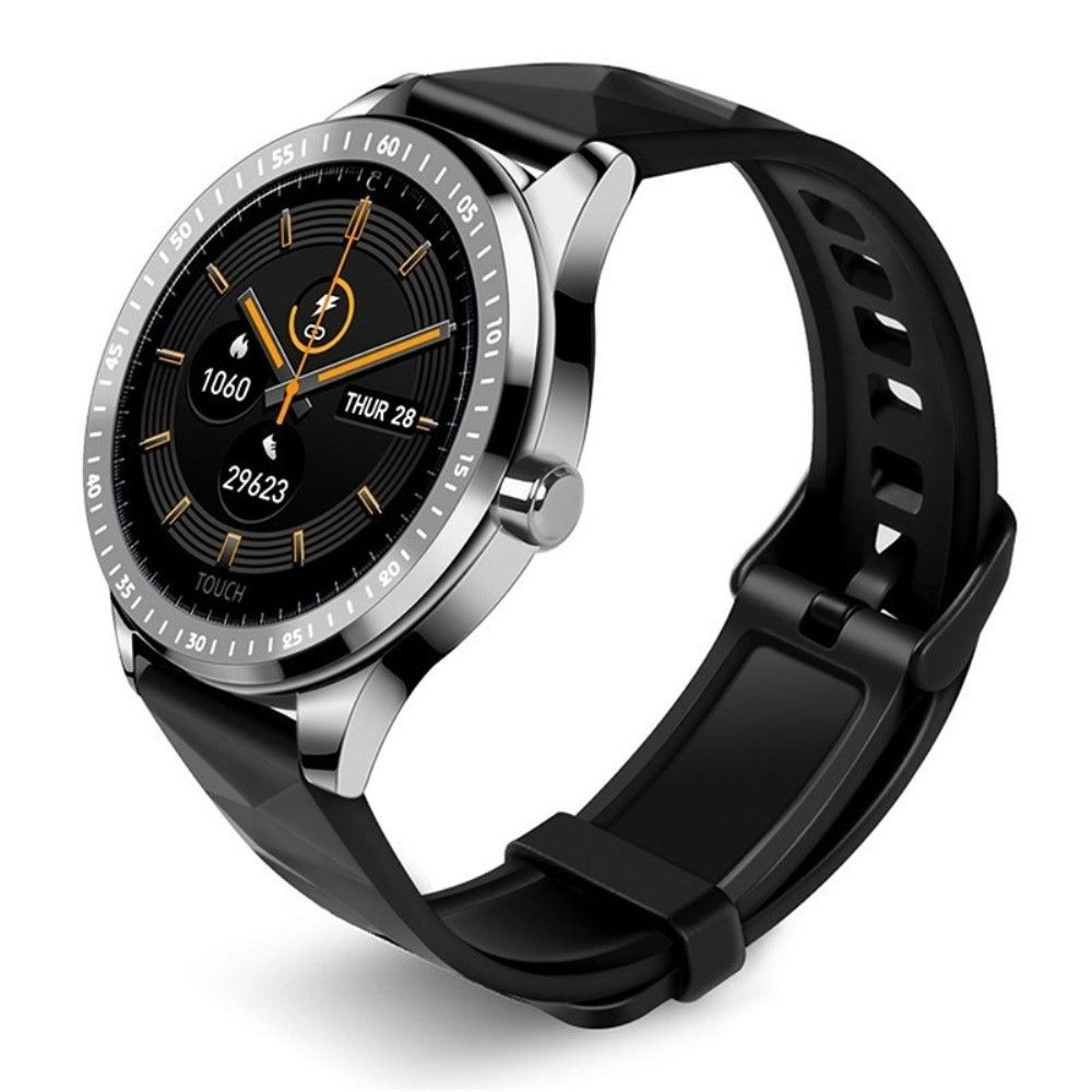 Smartwatch E1 - Fitness Tracker med puls, blodtryk, Søvnmønster, Sociale medier, pedometer, sports modes - Sølv