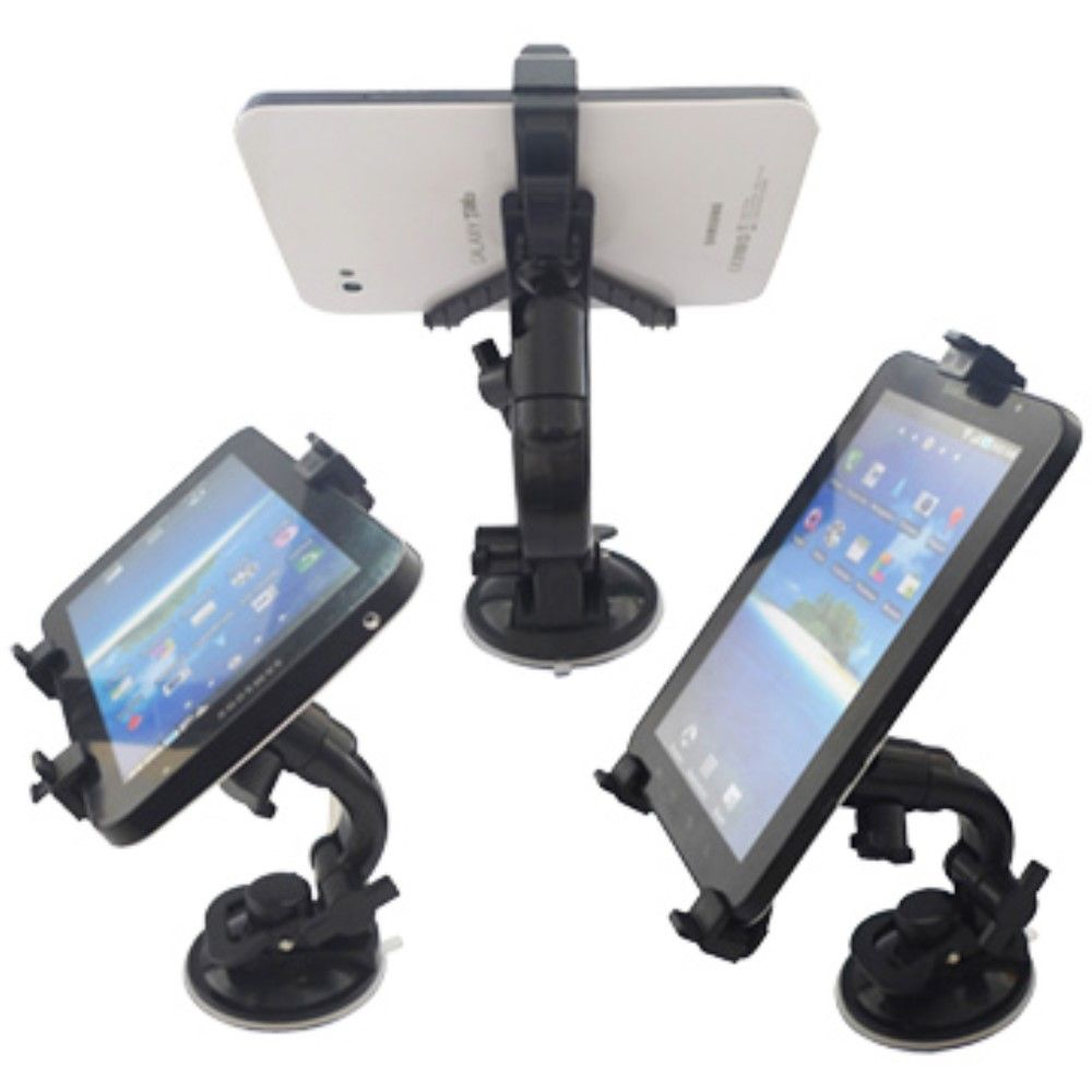 "Image of   Universal ipad/tablet holder til bilen m/sugekob 7-12"" - Sort"