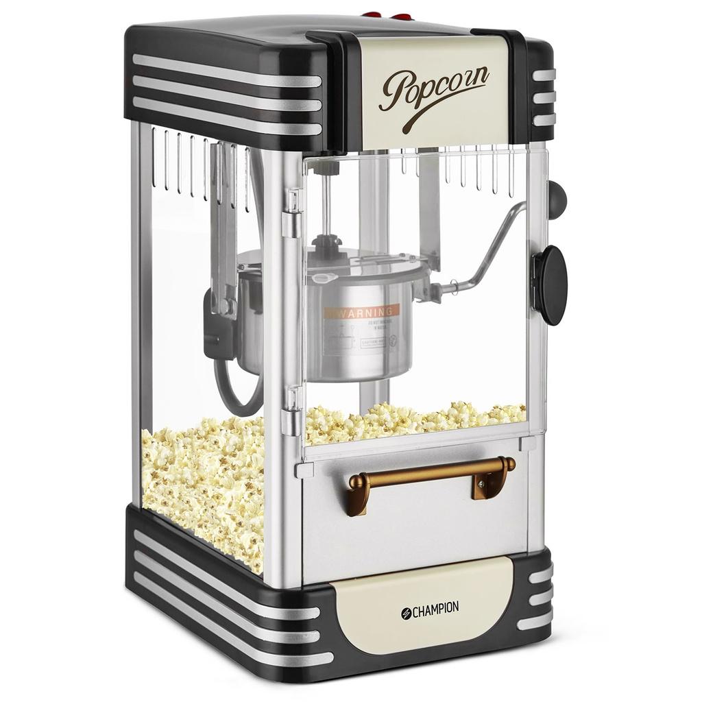 Billede af Popcornmaskine - Retro Deluxe - Indbygget lampe - Movie Time - Black Edition