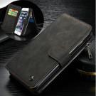 iPhone 6/6s - CASEME 14 Kortslots Pung Aftageligt 2-i-1 Ægte Split Læder Etui - Sort
