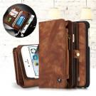 iPhone 6/6s - CASEME Retro Pung Split Læder Etui med Adskillige Kortslots - Kaffefarve