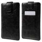 iPhone 6s Plus/ Samsung Galaxy S7 edge - PU Læder Cover Etui med Kortslots - Sort