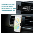 Car Air Vent Mount Holder til Mobiltelefoner
