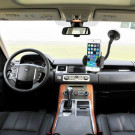 2 i 1 Universal Holder til Bilen m. Sugekop iPhone/Samsung