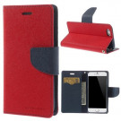 iPhone 6/6S - mercury goospery Luksus PU Læder Cover - Rød