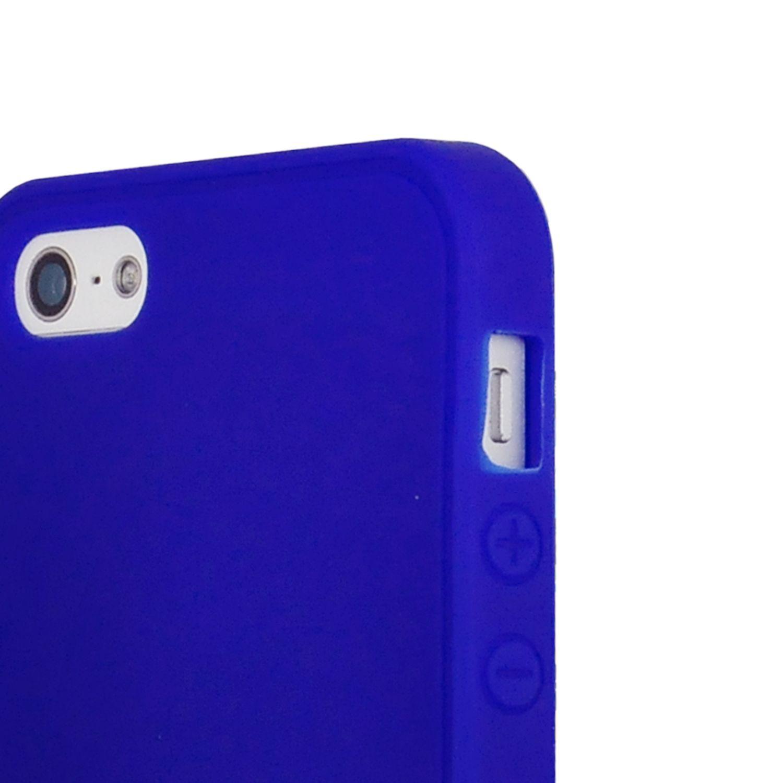 Image of   iPhone 5/5s/SE - Smart Candyfarvet Silicone cover - Mørkeblå