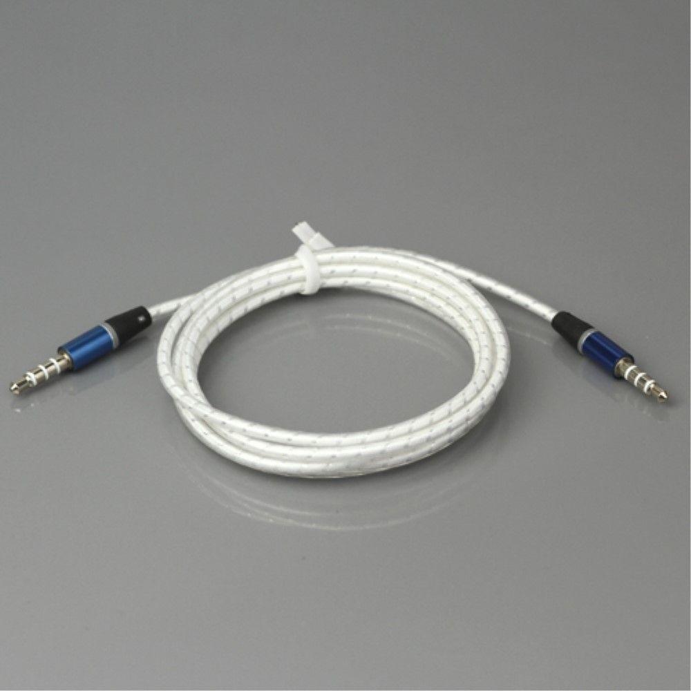 Audio kabel 3.5mm/3.5mm 115cm - Hvid
