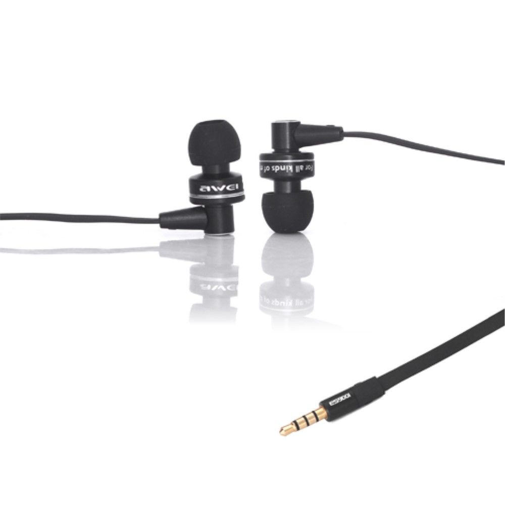 Image of   Awei Deep Bass In-ear høretelefoner med mikrofon - Sort