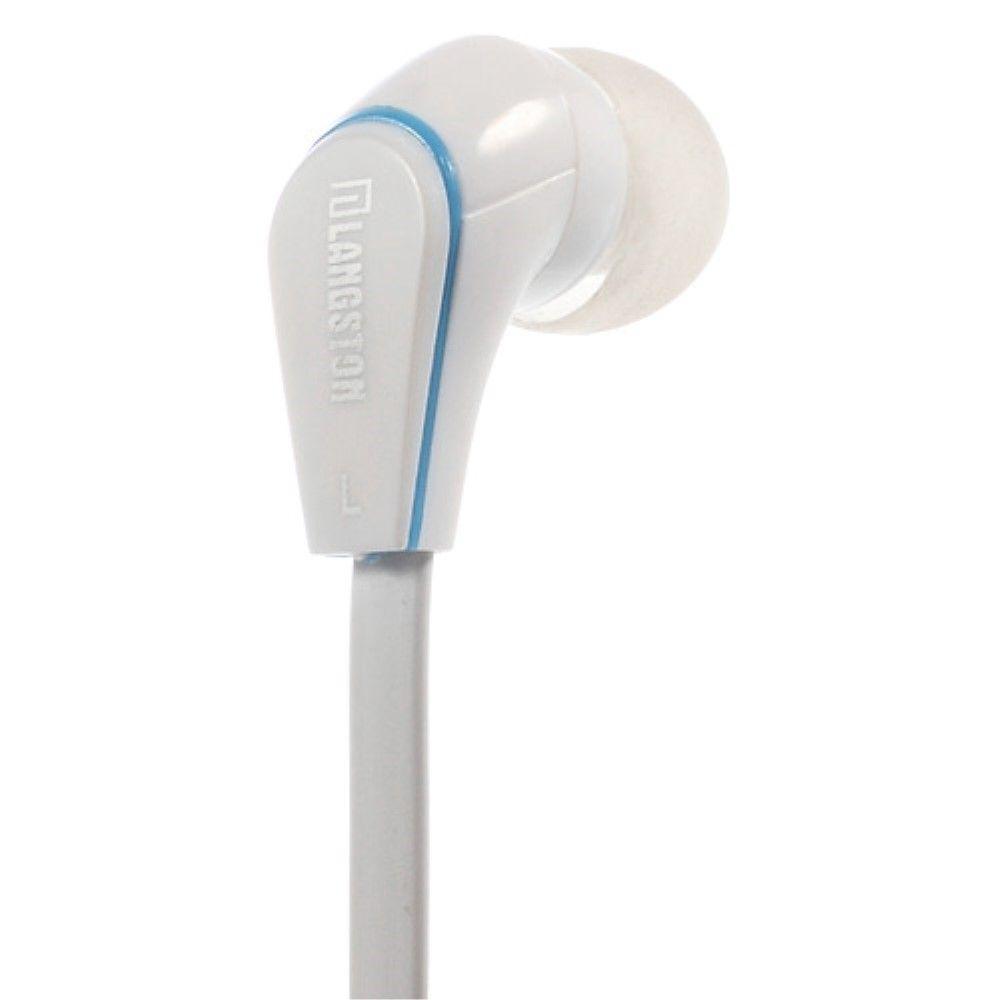 Image of   Langston JM-12 Høretelefoner in ear med Mikrofon - Hvid