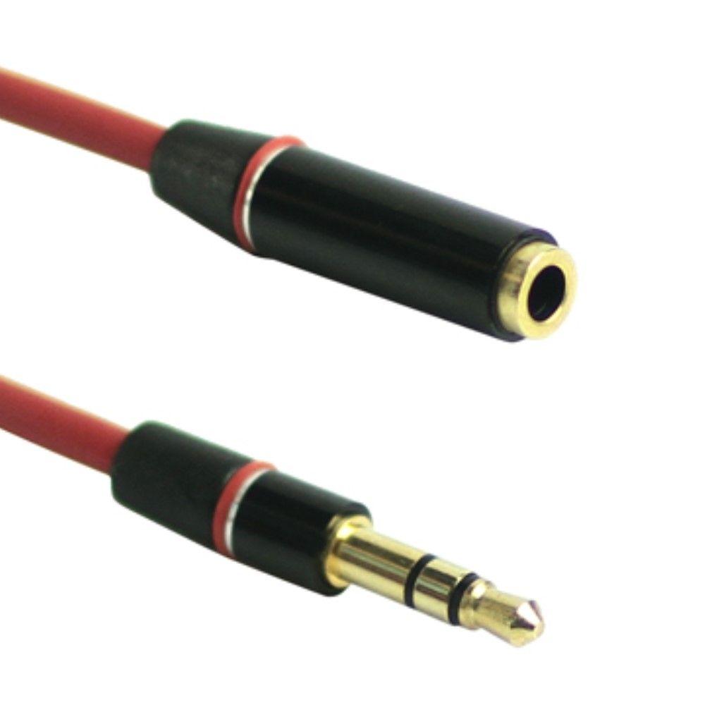 Audio Stereo kabel forlænger 3.5mm - Rød
