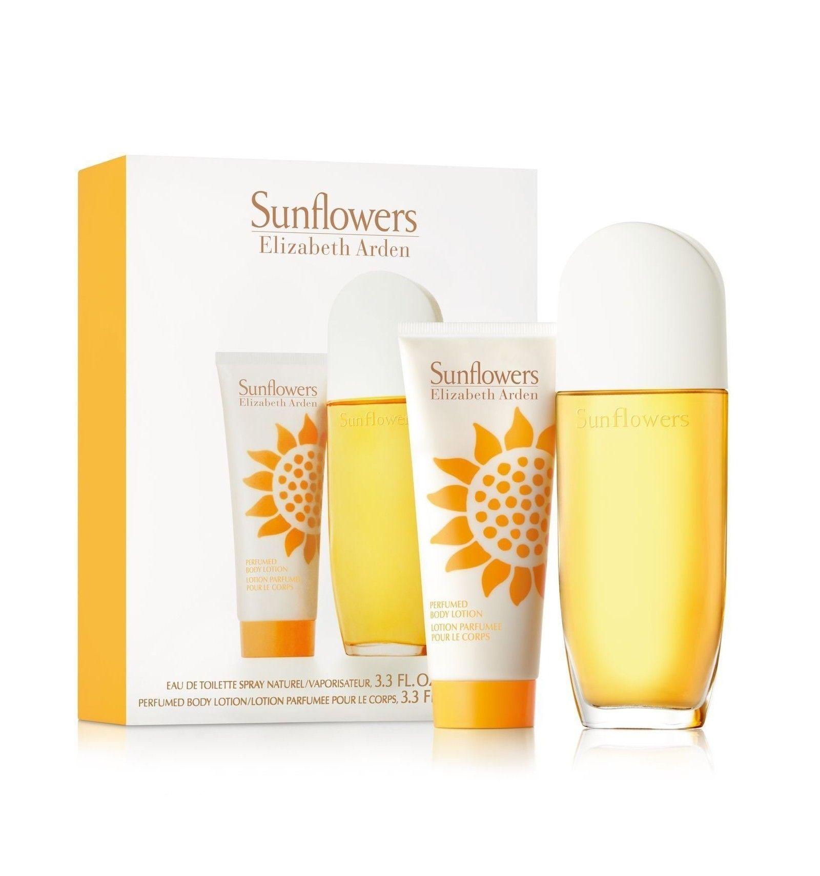 Image of   Elizabeth Arden - Sunflowers EDT 100ml + Body Lotion 100ml - gavesæt - Kvinder