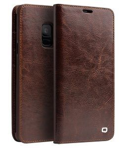 Samsung Galaxy S9 - QIALINO ægte læder cover - Brun