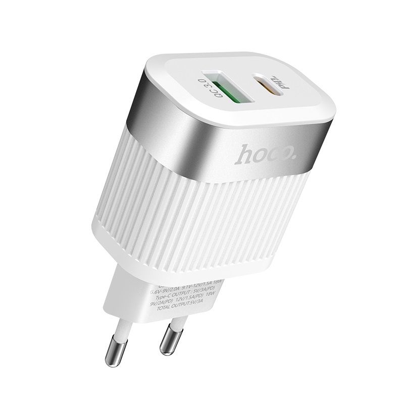 Image of   HOCO C58A Prominent - Quick Charge / Type-C PD USB oplader