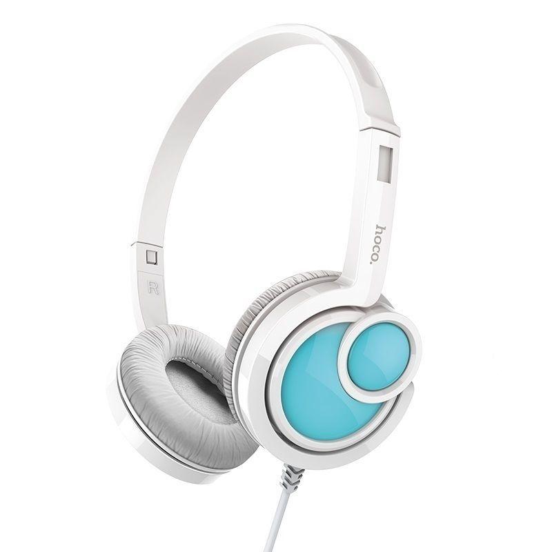 Image of   HOCO Delightful Høretelefoner m/mikrofon - Hvid
