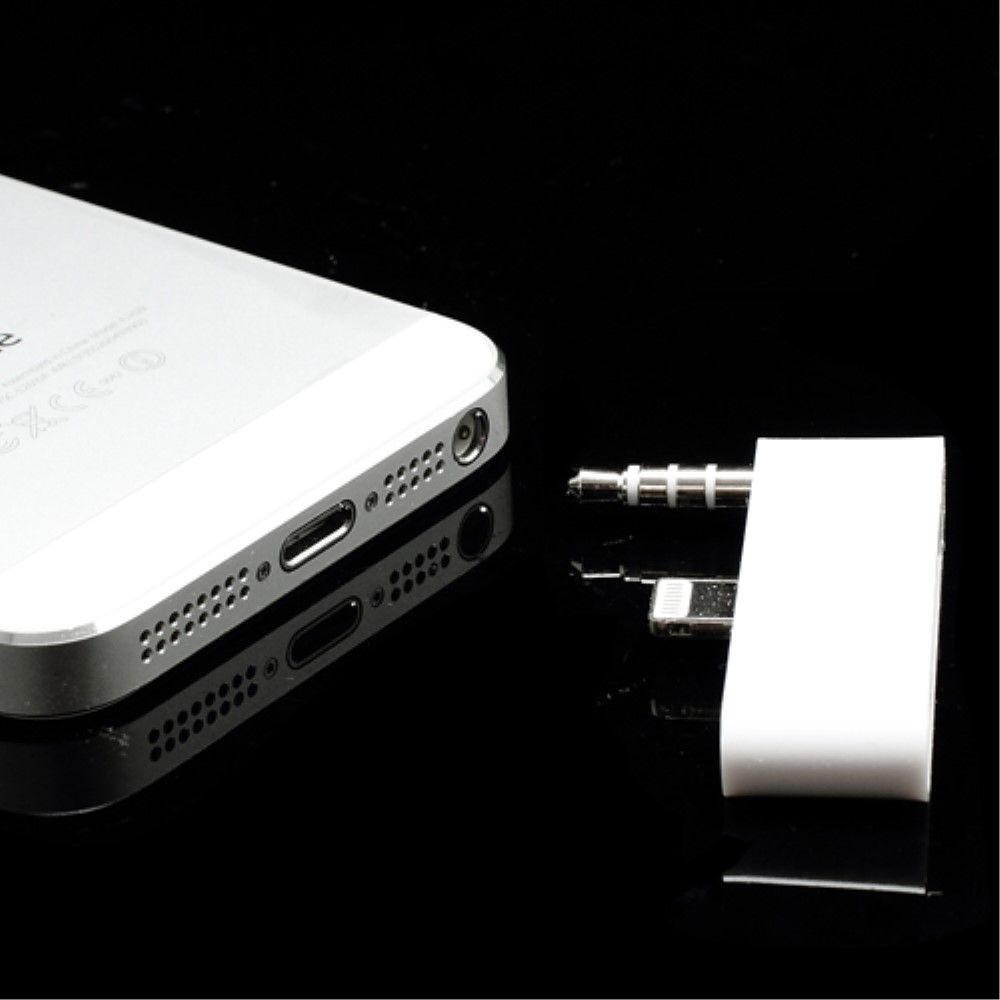 Image of   iPhone 5/5s/SE - Lightning 30 Pin til 8 Pin Data Sync /Audio & Charging Adapter - Hvid
