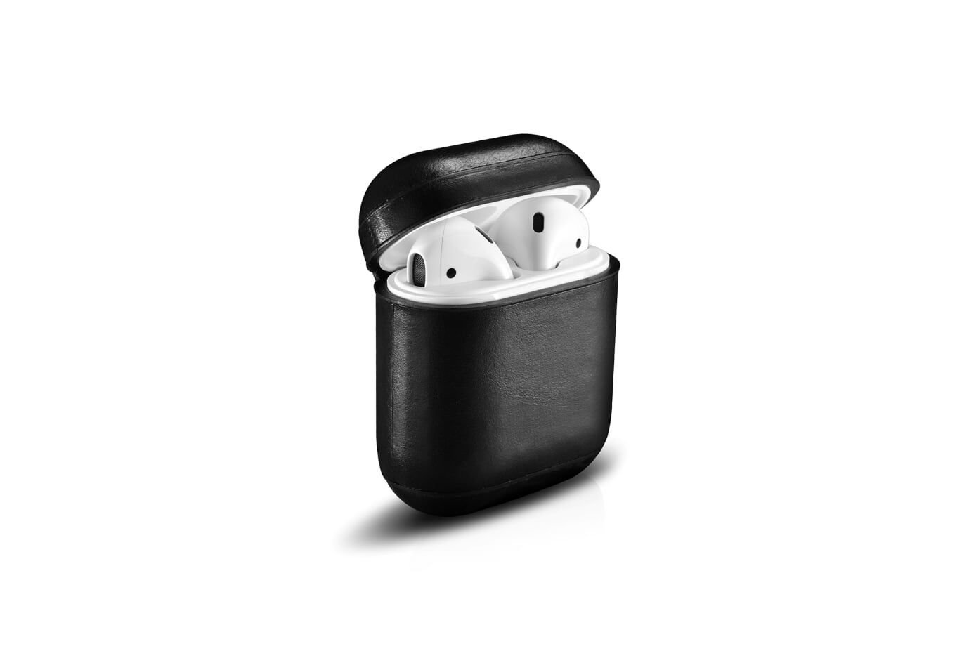 Image of   Apple AirPods - ICARER Vintage ægte læder cover - Sort