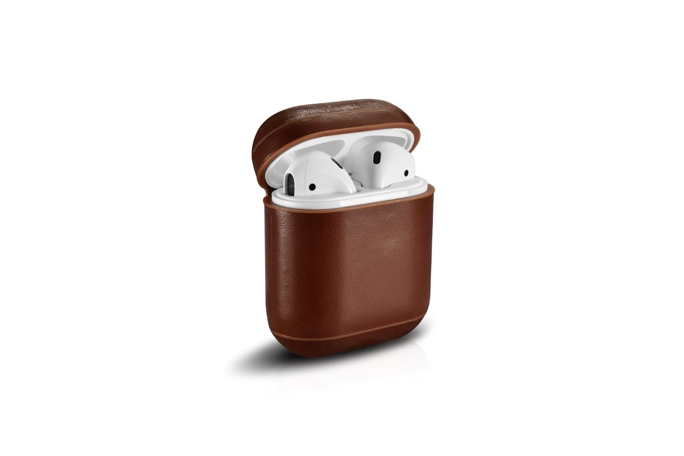 Image of   Apple AirPods - ICARER Vintage ægte læder cover - Brun