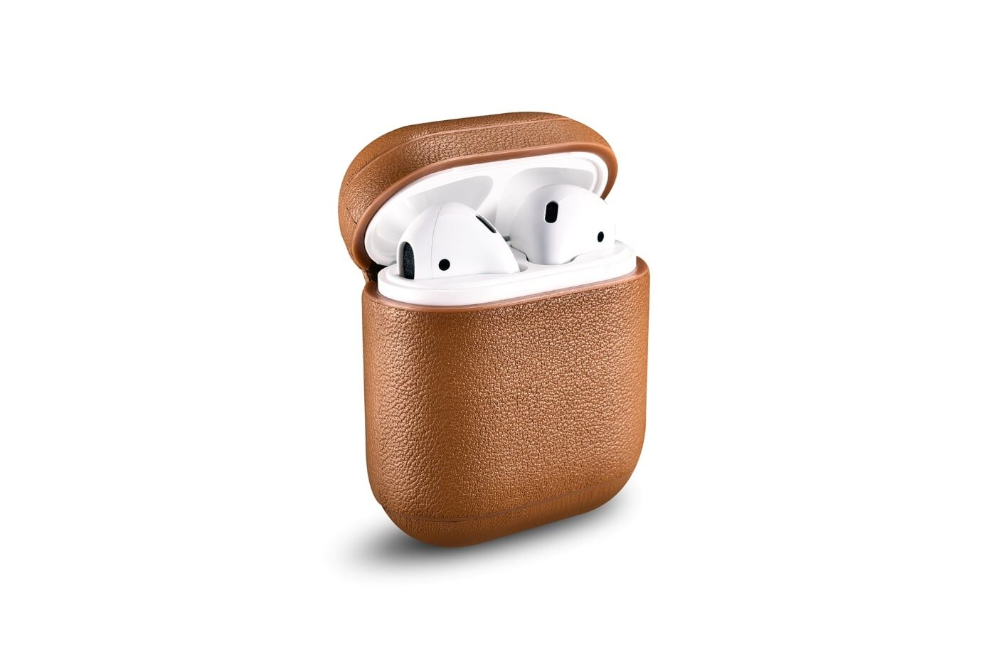 Image of   Apple AirPods - ICARER ægte læder cover - Brun