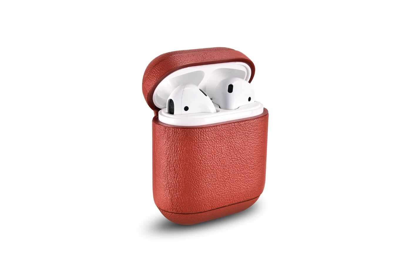 Image of   Apple AirPods - ICARER ægte læder cover - Rød