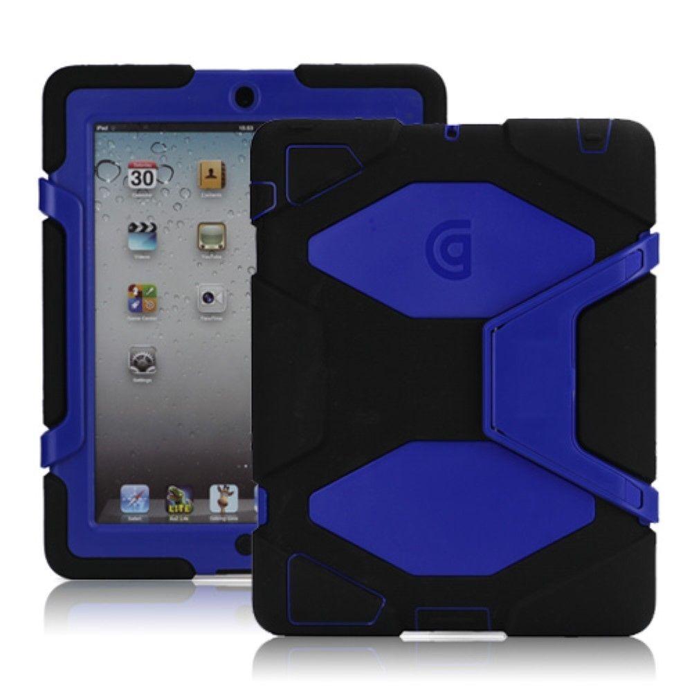 Image of   iPad 2/3/4 - Griffin Survivor Hybrid cover/etui - Sort/Blå