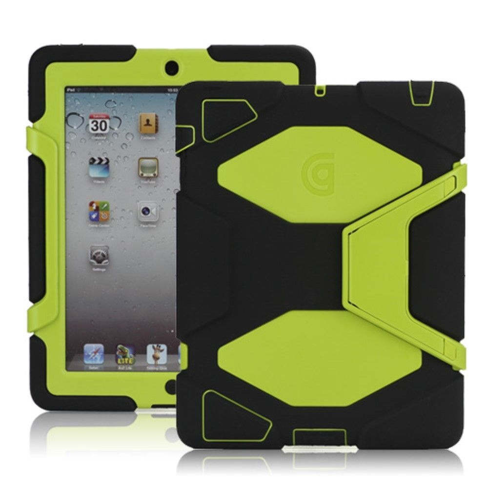 Image of   iPad 2/3/4 - Griffin Survivor Hybrid cover/etui - Sort/gul