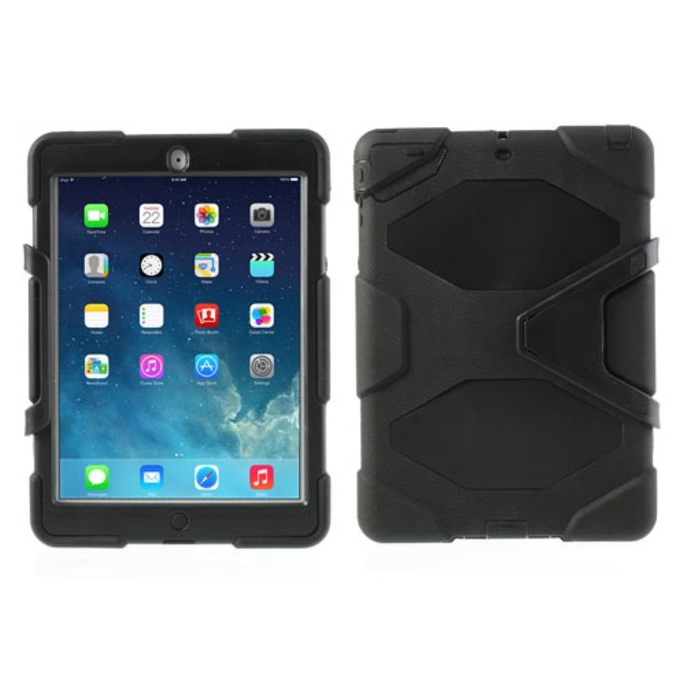 Image of   iPad Air 1 - Military Duty Hybrid cover - Sort