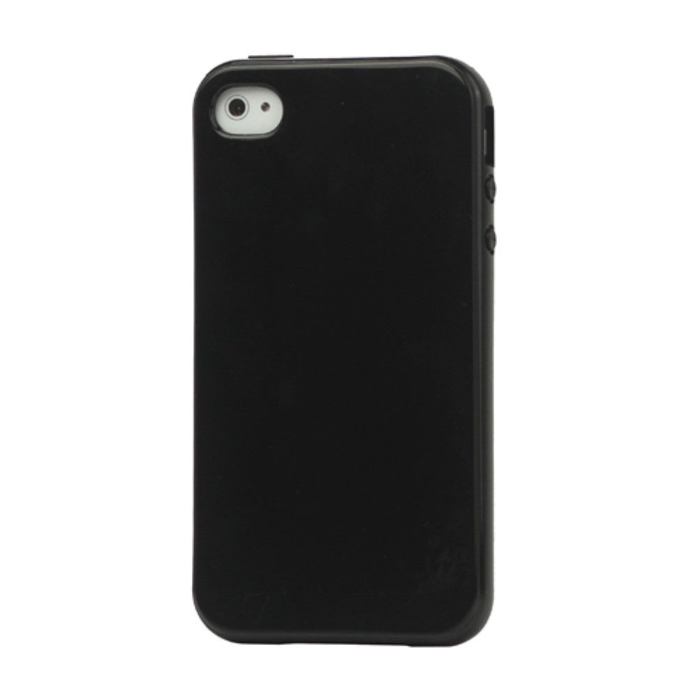 Image of   iPhone 4/4s - TPU cover stødsikker - Sort