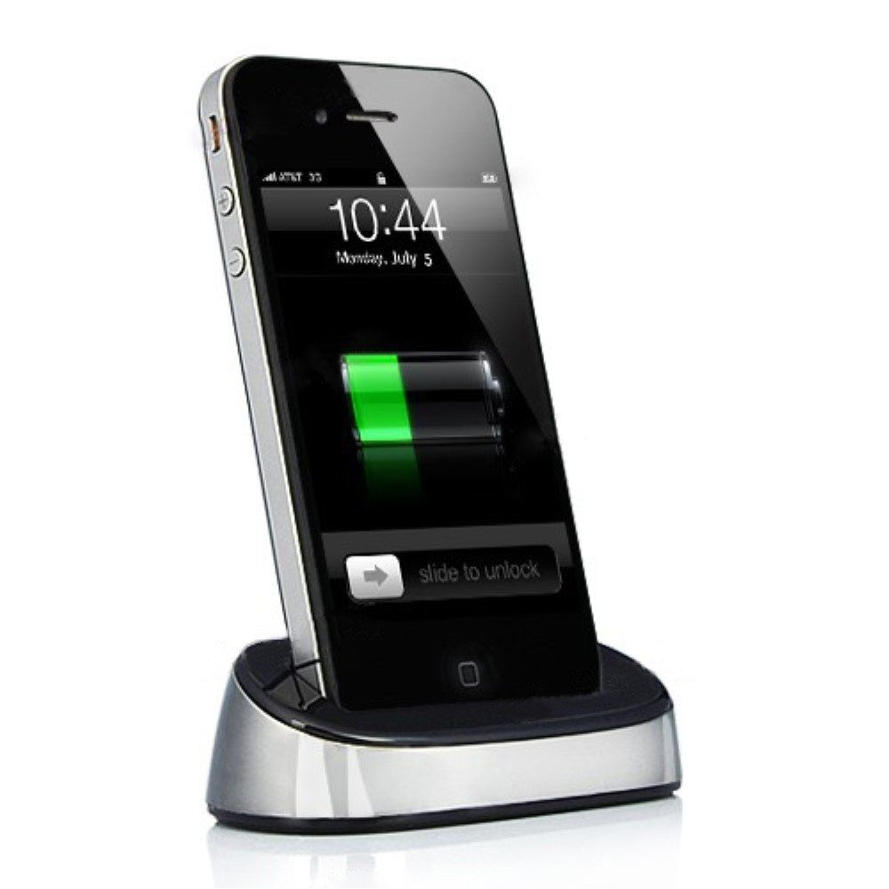 Image of   iPhone 4/4s - Oplader dock - Sølv
